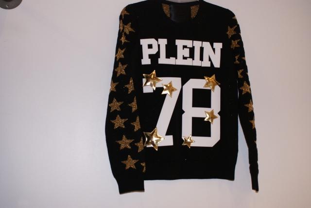 Sudadera negra con estrellas doradas de Philip PLein