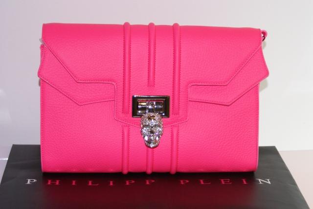 cartera rosa fluor Philipp Plein